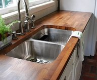 Distressed Hickory Kitchen Sink by The Countertop Company